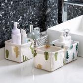 【買一送一】棉麻桌面收納盒辦公桌收納【不二雜貨】