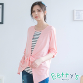 betty's貝蒂思 拼接造型假兩件長袖上衣(粉色)
