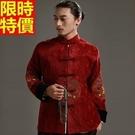 中山裝西裝外套中式男裝(單上衣)-冬款保暖復古大氣立領唐裝2色66ac26【時尚巴黎】