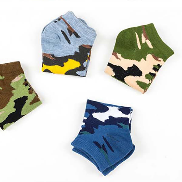 襪子【FSM016】迷彩紋男短襪 短襪 運動襪 條紋襪  毛巾襪 船型襪 男女襪 學生襪-SORT
