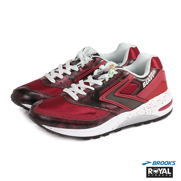 BROOKS 新竹皇家 Beast Futuristic 紅色 網布 未來野獸派 慢跑鞋 男款 NO.A7974