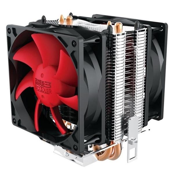 散熱器 超頻三紅海mini CPU散熱器臺式電腦CPU風扇AMD 775 1155 1150銅管 源治良品