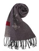 Vivienne Westwood經典LOGO骷顱頭圍巾(灰褐色)910523-1
