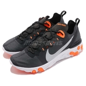 【六折特賣】Nike React Element 55 黑 橘 發泡材質中底 緩震回彈 男鞋 女鞋 運動鞋【PUMP306】 BQ6166-006