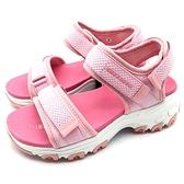 《7+1童鞋》中大童 SKECHERS 996334LPNK 輕量 防水 運動涼鞋 C905 粉色
