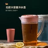 冷水壺 耐高溫冷水壺涼冰涼白開水壺大容量家用果汁裝水杯防摔涼茶壺套裝