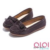 豆豆鞋 輕恬美人麂皮流蘇蝴蝶結豆豆鞋(咖) * 0101shoes  【18-995co】【現貨】