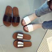 室內拖鞋拖鞋女夏外穿平底新品正韓百搭涼拖女一字拖女室外沙灘鞋女 全館免運