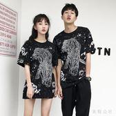 2018夏裝新款氣質情侶短袖女韓版夏季寬鬆百搭學生t恤潮 ZB453『美鞋公社』