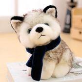 狗狗女孩禮物抱抱大號小型毛絨玩具個性玩偶大型搞怪狗子二軟體哈30cm KV385 【野之旅】