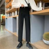 [S-5XL] 大碼九分牛仔褲女學生直筒寬鬆老爹闊腿長褲 - 古梵希