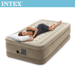 INTEX超厚絨豪華充氣床-寬99cm(內建幫浦)(64425)