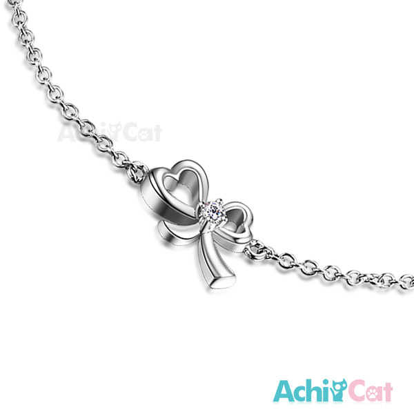 925純銀手鍊AchiCat愛心蝴蝶結 情人聖誕節禮物