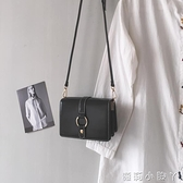 法國小眾包包女2021新款潮高級感小方包百搭單肩斜背包ins女包小 蘿莉新品