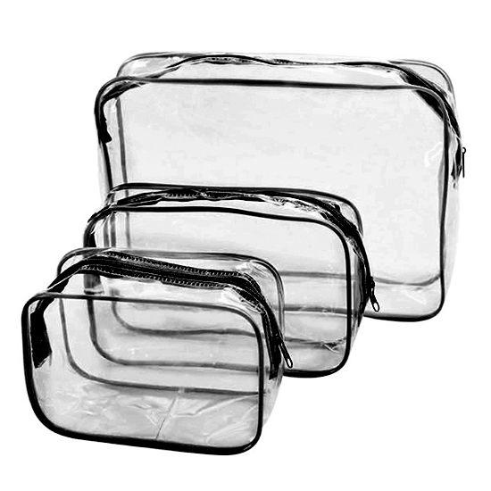 手拿包 洗漱包 防塵包 防塵袋 分類 文具 旅行 化妝品 數據線 加厚 PVC透明化妝包(小) MY COLOR【G046】