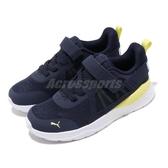 Puma 慢跑鞋 Anzarun Knit AC PS 藍 黃 白 童鞋 中童鞋 運動鞋 【ACS】 37204002