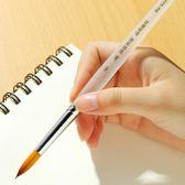 博格利諾尼龍水彩畫筆套裝 狼毫尖頭勾線筆水粉筆初學者手繪筆油畫丙烯顏料