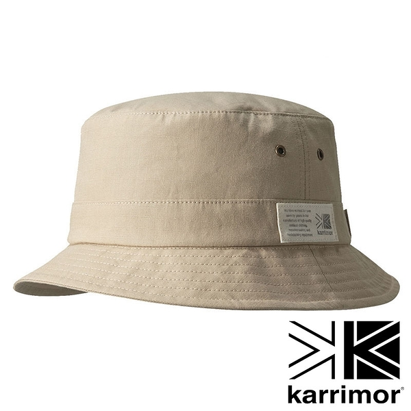 【karrimor】Grab hat 抗UV 防潑水 漁夫帽『淺米黃』100681 戶外 休閒 運動 露營 登山 吸濕 排汗 快乾