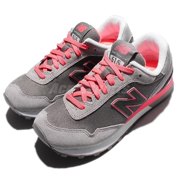 New Balance 復古慢跑鞋 515 系列 灰 粉紅 黑 休閒鞋 女鞋【PUMP306】 WL515SLAB