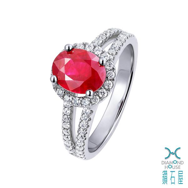 【鑽石屋】1.82克拉紅寶戒指