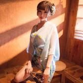 情趣和服 日本和服日系透明睡衣蕾絲透視裝情趣內衣激情套裝性感騷制服誘惑【星時代女王】