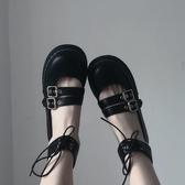 厚底鞋日系lolita小皮鞋女厚底瑪麗珍黑色單鞋女百搭軟妹可愛jk制服鞋潮