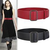 髮帶 女寬裝飾毛衣黑色寬腰封女時尚簡約百搭配裙子紅色大衣寬髮帶