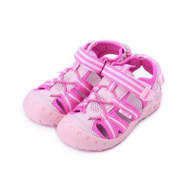 RED ANT 束繩護趾魔鬼氈涼鞋 粉 中小童鞋 鞋全家福