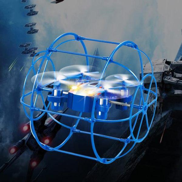 航模遙控飛機耐摔四軸飛行器爬牆防摔UFO飛碟直升機兒童玩具 全館免運