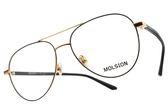 MOLSION 光學眼鏡 MJ7016 B60 (黑-金) Angelababy代言 潮流金屬飛行款 眼鏡框 #金橘眼鏡