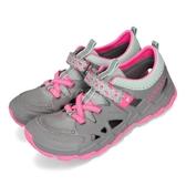 Merrell 水陸兩棲鞋 Hydro 2.0 灰 粉紅 大童鞋 女鞋 水鞋 魔鬼氈 戶外鞋款 【PUMP306】 MY58615
