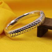 手環 925純銀-光面手工編織方型生日情人節禮物女手鐲73na110【時尚巴黎】