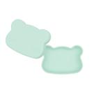 澳洲 We Might Be Tiny 矽膠防滑便當盒熊寶寶 薄荷綠