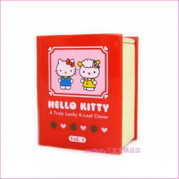 asdfkitty可愛家☆二手商品出清-KITTY書本造型小擺飾/裝飾品-日本正版商品