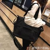 斜挎包側背韓國簡約百搭托特包女大容量帆布包防水尼龍網紅大包包 格蘭小舖