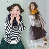 男童上衣 女童上衣 條紋拼接雙口袋寬袖上衣 韓國外貿中大童 QB allshine