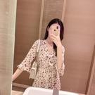 長裙 2019春夏新款復古碎花雪紡裙子仙女超仙森系很仙的法國小眾連身裙 全館 雙十二