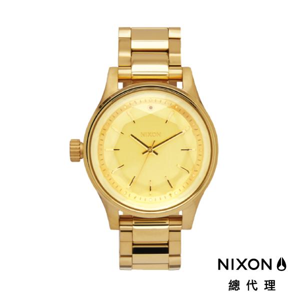 【官方旗艦店】NIXON 想見你FACET 38 閃耀系 鑽石切割錶面 金 潮人裝備 禮物首選