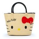 【震撼精品百貨】Hello Kitty_凱蒂貓~三麗鷗KITTY編織風2用斜提袋#29627
