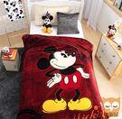 咖啡米奇-保暖法蘭絨毯(大件)走進迪士尼世界【睡眠屋】