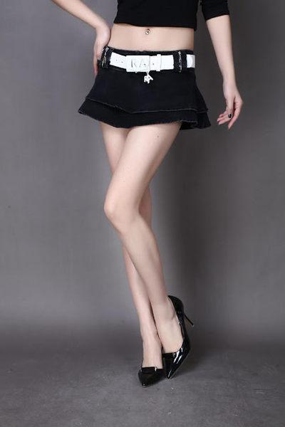 衣美姬♥性感出擊! 歐美低腰短裙 休閒百搭款蛋糕裙 A字裙 送腰帶