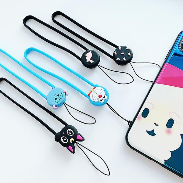 【SZ35】卡通矽膠手繩 手機掛繩 iPhone 8 x 7 6 HTC samsung SONY ASUS 繩子 吊繩 鑰匙扣