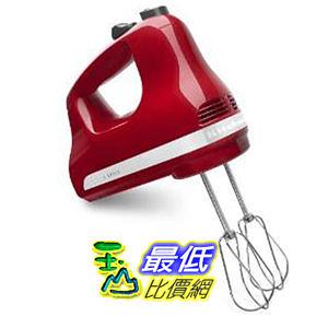 [104美國代購美國直寄] KitchenAid 5速 攪拌機 紅色款 Kitchenaid 5 Speed Hand Mixer - Empire Red