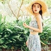 泳衣女三件套分體裙式顯瘦小胸性感韓國小清新學生少女溫泉游泳裝 凱斯頓3C