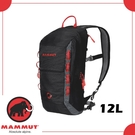 【MAMMUT NEON LIGHT 12L 後背包《黑/灰》】2510-02490/輕量雙肩背包/登山攻頂包/攀岩背包