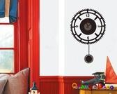 壁貼【橘果設計】齒輪造型 靜音壁貼時鐘 不傷牆設計 牆貼 壁紙裝潢