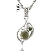 項鍊 925純銀 葡萄石吊墜-造型獨特生日情人節禮物女飾品73de31【時尚巴黎】