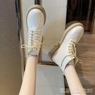 平底短靴白色馬丁靴女英倫風夏季新款韓版短靴女春秋單靴ins潮女鞋子 【快速出貨】