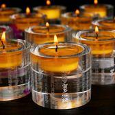 佛燈 酥油燈座 水晶蠟燭台蓮花擺件供佛燭台家用供燈心經大悲咒長明燈 曼慕衣櫃