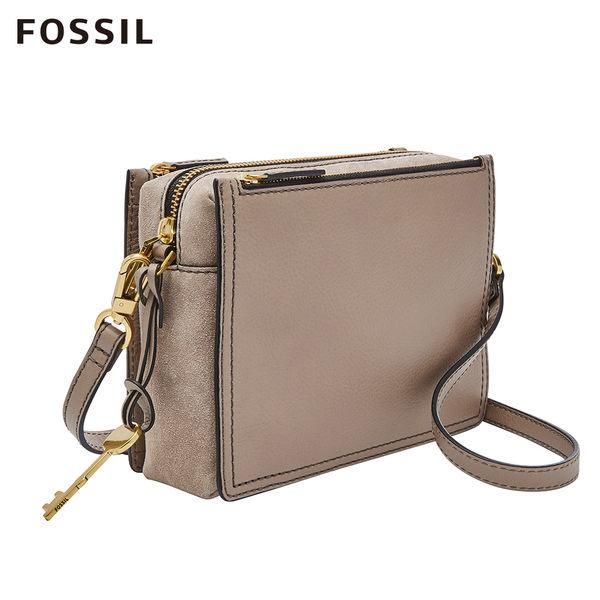 FOSSIL CAMPBELL 鴕色真皮小方包 ZB7592263